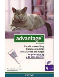 Advantage para gatos de 4kg o superior