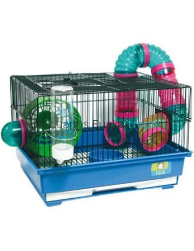 Jaula para hamster con tubos