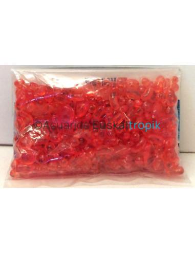 Mini piedras de plàtico rojo