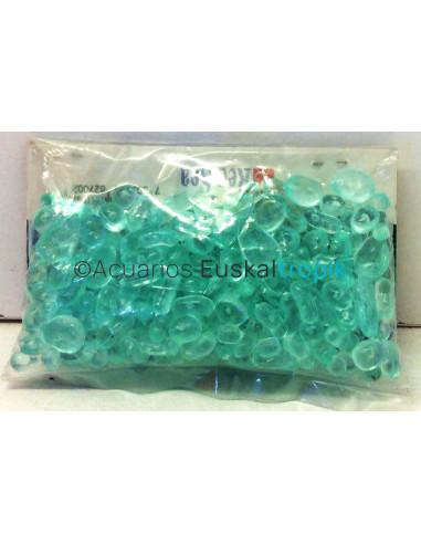 Mini piedras de plàstico azul claro
