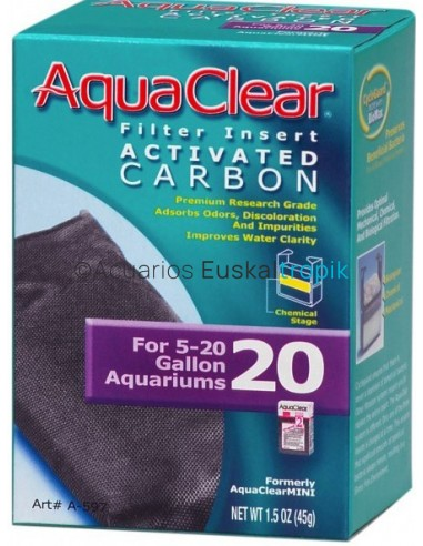 Carbón Aqua Clear 1 unidad