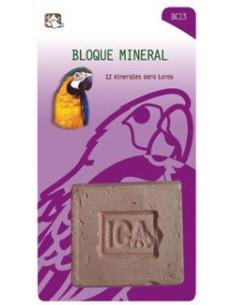 Bloque mineral para loros
