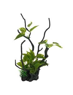 Tronco con plantas L2 35.5cm