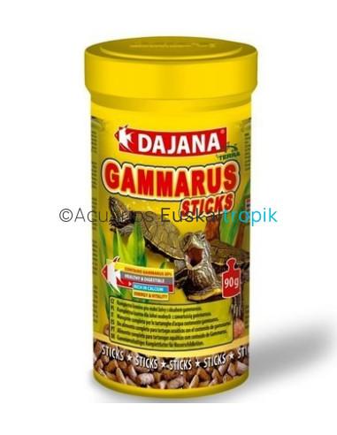 Comida tortugas con Gammarus